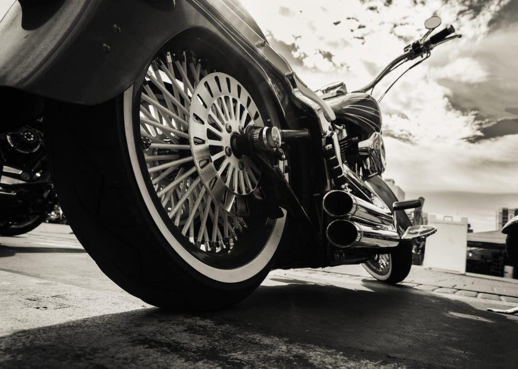 side view of a motorcycle